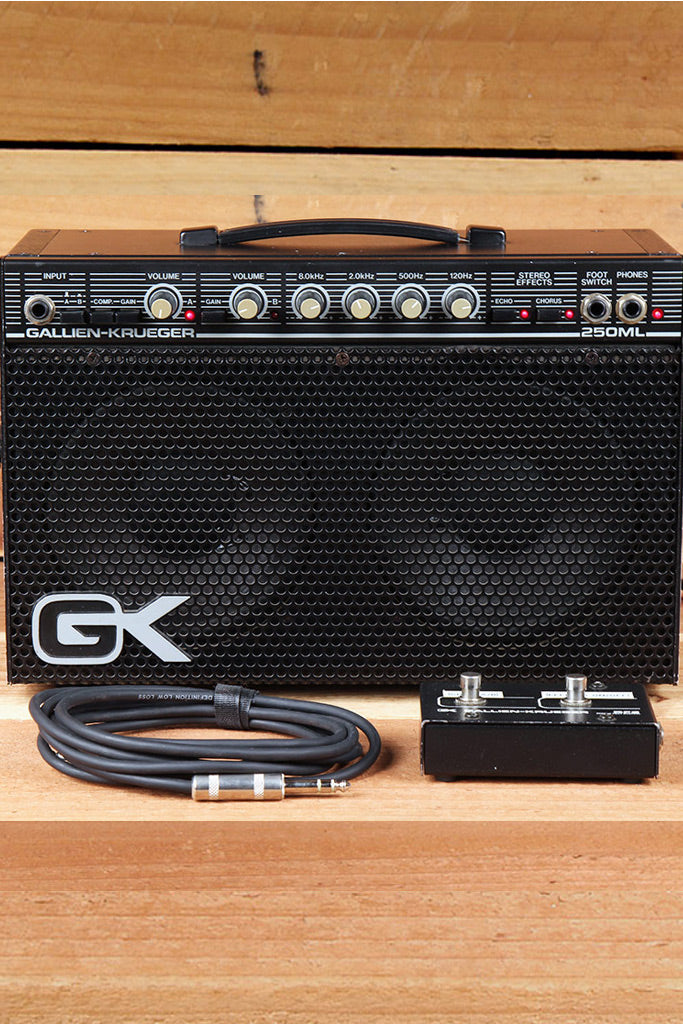 GALLIEN-KRUEGER Vintage 250ML Clean w/ Footswitch Cable & Manual GK 250 ML 8867
