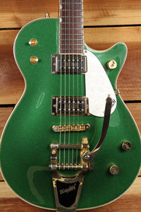 GRETSCH ELLIOT EASTON G5570 Green Sparkle Duo Jet 2005 post-FMIC Guitar 0328