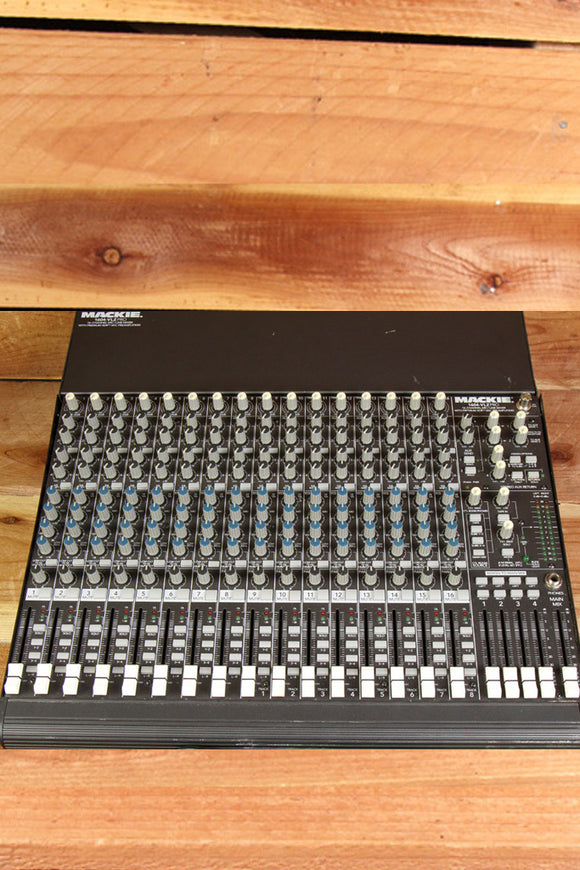 MACKIE 1604-VLZ PRO 16-Channel Mixer Clean Opt Rack Ears CR1604 Made in USA 1044