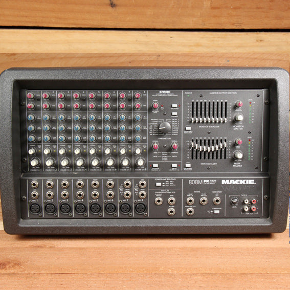 MACKIE 808M 1200W Powered PA Mixer Board -- Very Clean! 808 M 0632