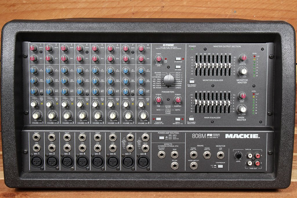 MACKIE 808M STEREO 1200W Powered PA Mixer Board -- RARE