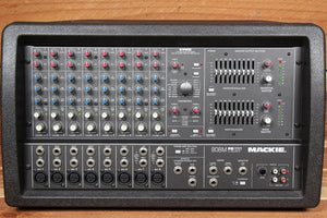 "MACKIE 808M STEREO 1200W Powered PA Mixer Board -- RARE ""Made in USA"" 808 12417"