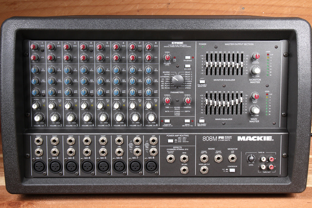 MACKIE 808M 1200W Powered PA Mixer Board -- Very Clean! 808 M 1572
