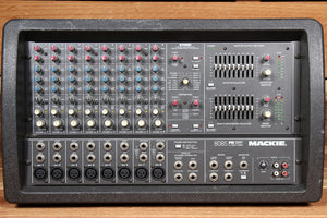 "MACKIE 808S STEREO -- RARE ""Made in USA""  1200W Powered PA Mixer Board 808 20994"
