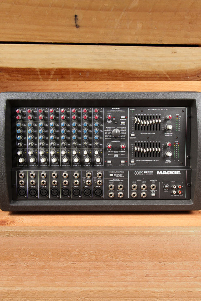 MACKIE 808S STEREO 1200W Powered PA Mixer Board -- RARE