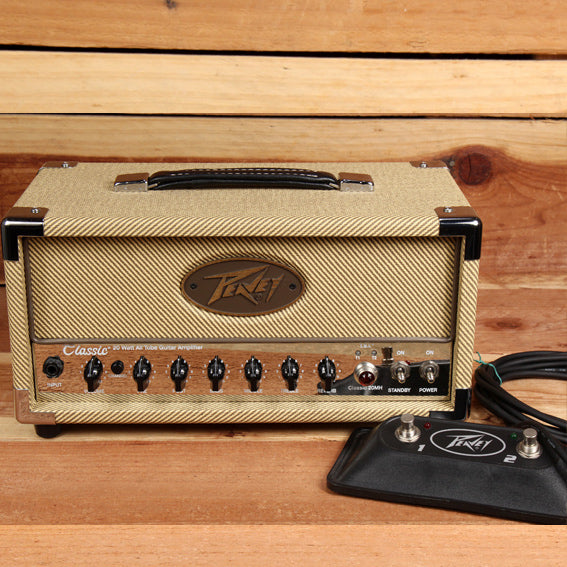 PEAVEY CLASSIC 20 MINI HEAD Guitar Amp + FOOTSWITCH MINT! Free Ship!