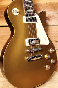 GIBSON LES PAUL 70s Tribute GoldTop Real RELIC Upgraded Mini Humbucker PUs 21479