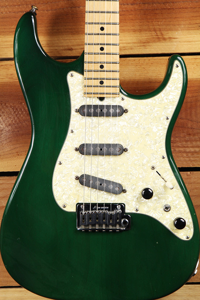 1998 TOM ANDERSON The Classic S Style Guitar Buzz Feiten Emerald Green 1198