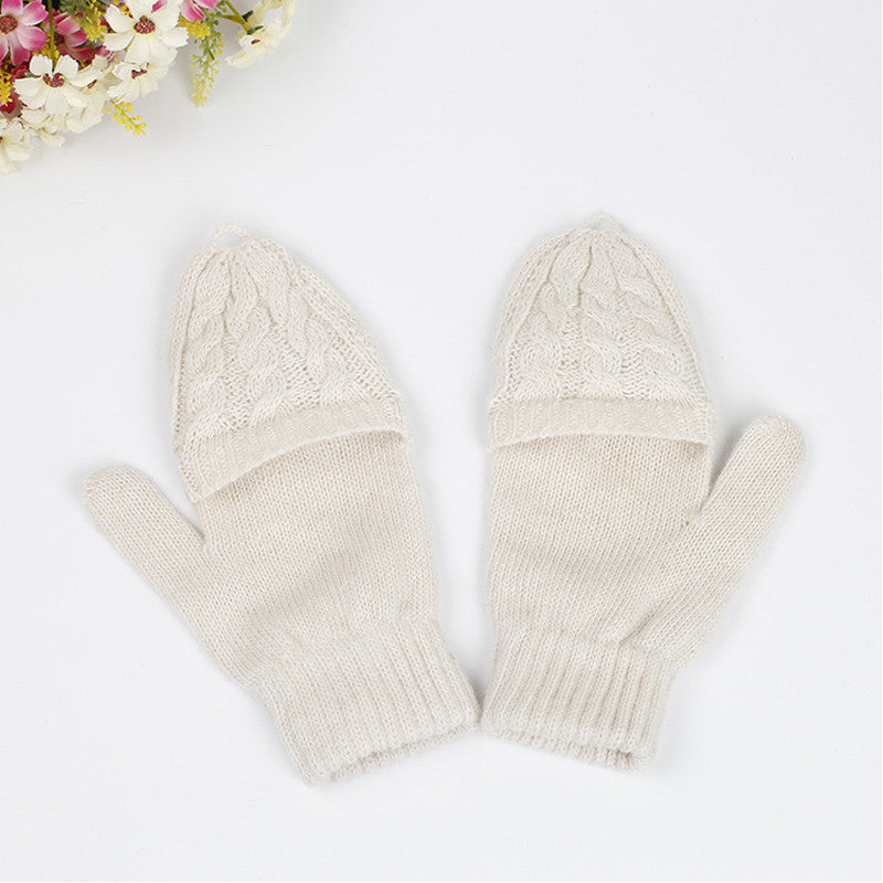 2 in 1 Fingerless Gloves & Mittens - ajevans online retail Men, Women, Children