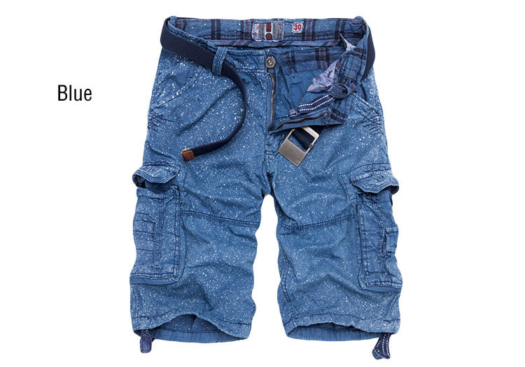 knee-length men shorts multi-pocket cargo shorts - ajevans online retail Men, Women, Children