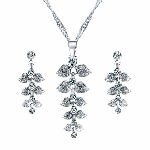 Brilliant Leaf Jewellery Set - ajevans online retail Men, Women, Children