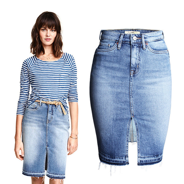 hot sale  new vintage washed denim skirt women - ajevans online retail Men, Women, Children