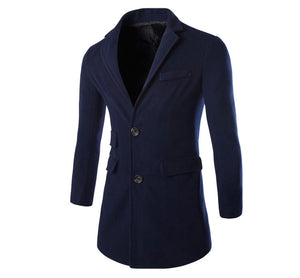Winter High Quality Fashion Woolen Men Coat - ajevans online retail Men, Women, Children