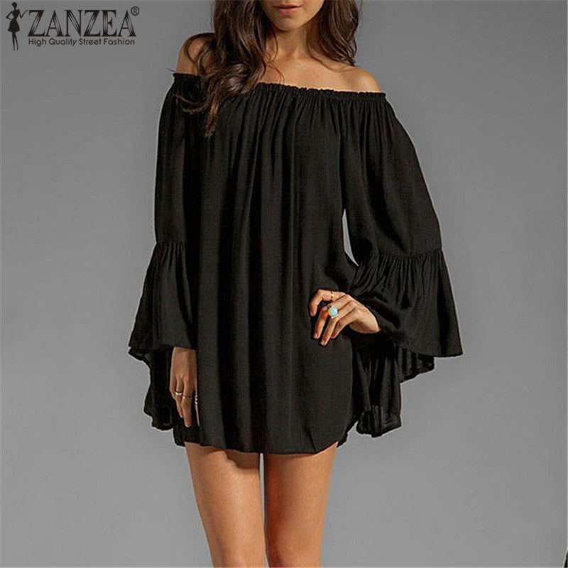 ZANZEA Casual Loose Summer Dress - ajevans online retail Men, Women, Children
