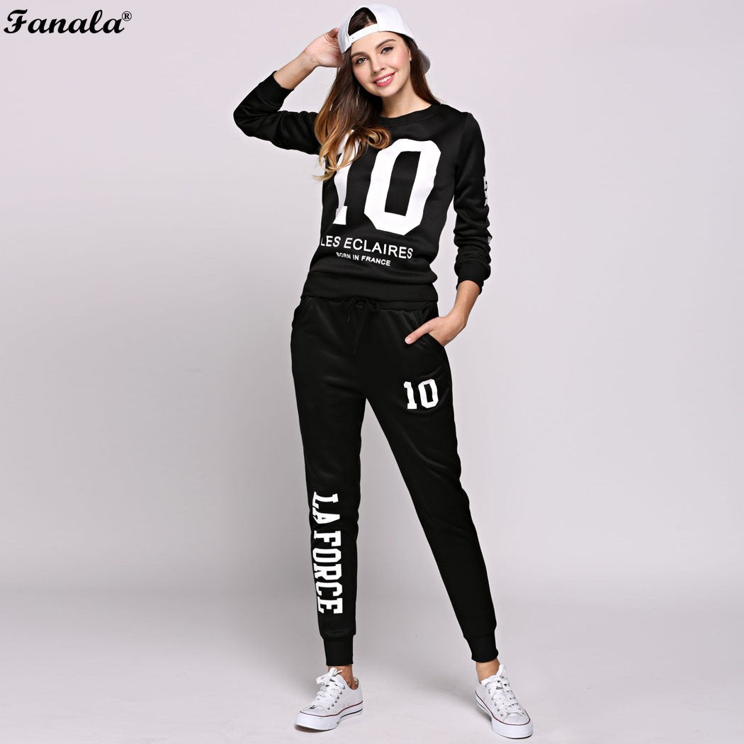 FANALA Tracksuit Sweatshirt Women 2 Piece Set - ajevans online retail Men, Women, Children