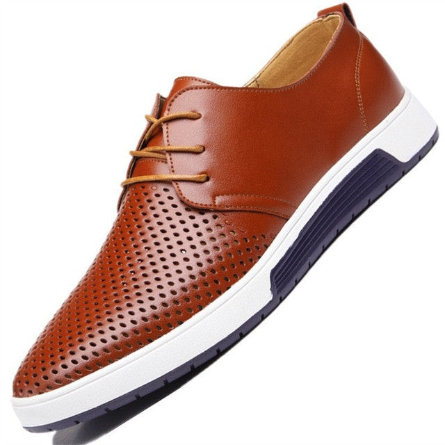 Mens Casual Genuine Leather Shoes - ajevans online retail Men, Women, Children