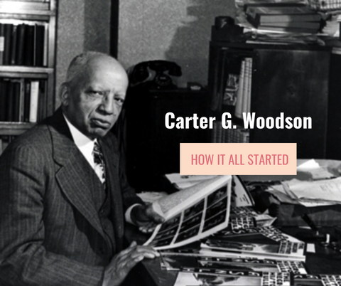 Carter G. Woodson founder of the Black History Month