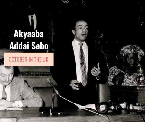 Ghanaian-born Akyaaba Addai Sebo founder the UK's version of BHM in 1987