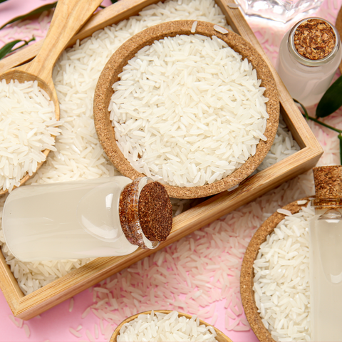 Use a rice water rinse as a protein treatment