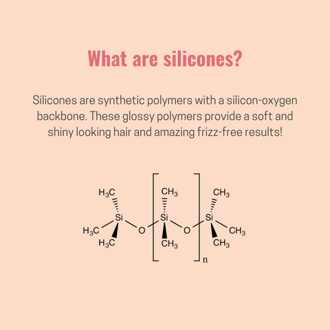What are silicones in the hair care products?