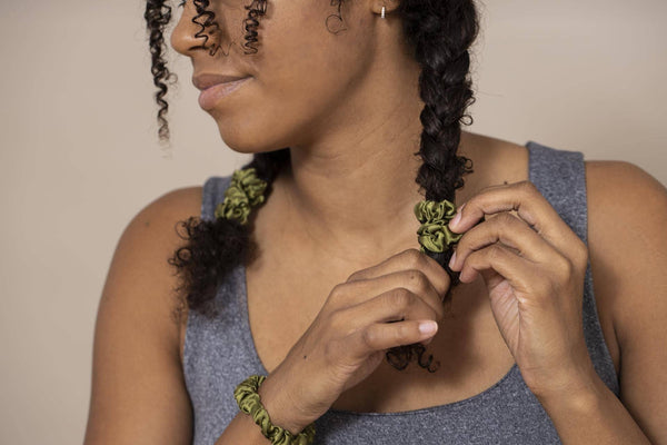 Mini Silk Hair Scrunchies - The Wild Curl