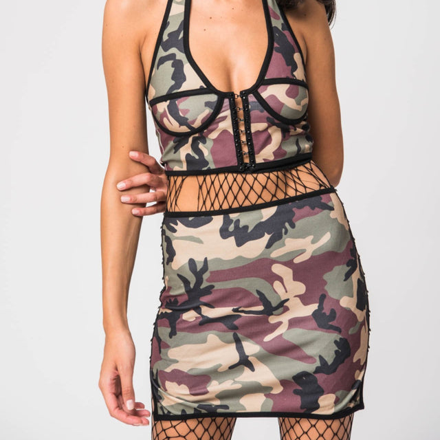 Janine Two Piece Camou set
