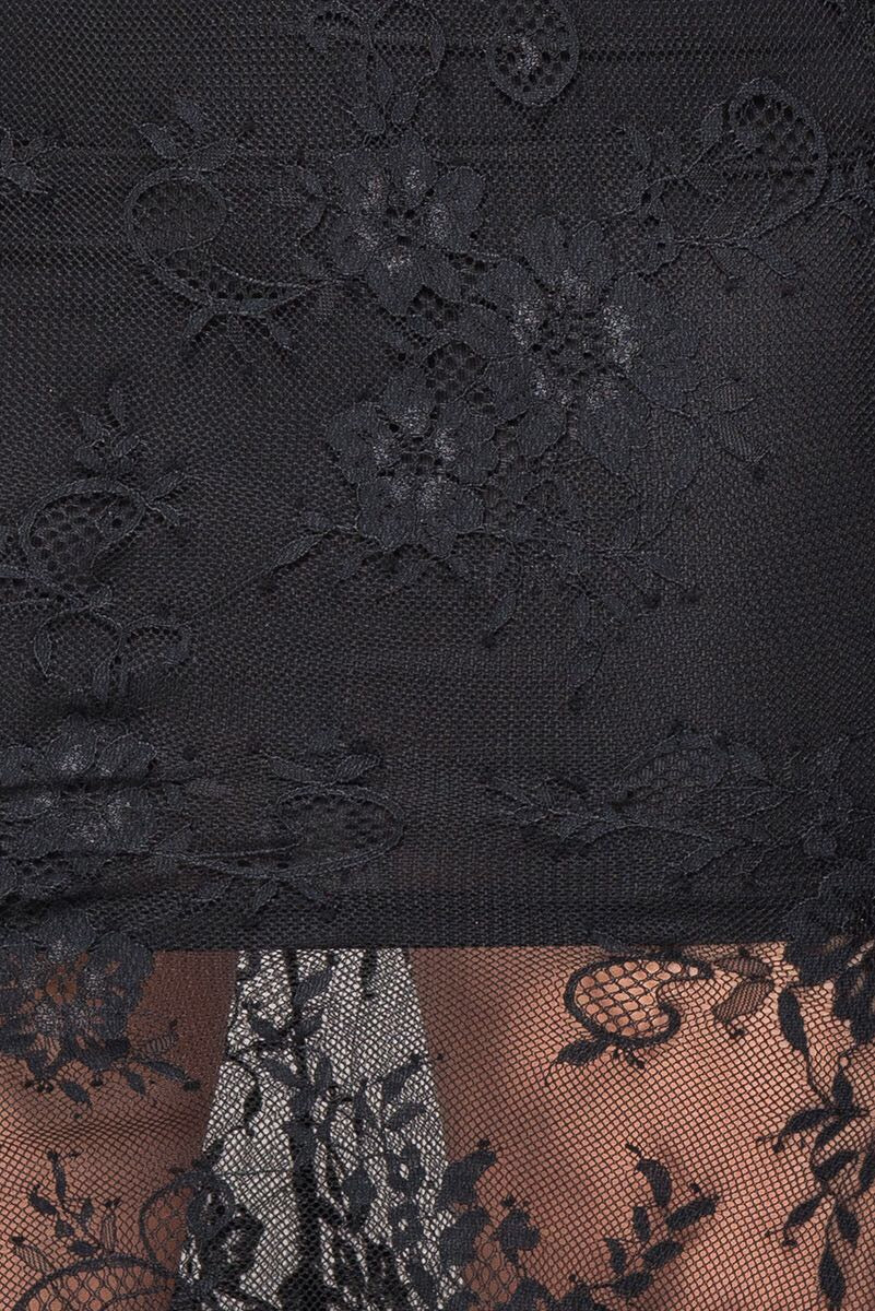 Close up of lace detail on sexy lace skirt