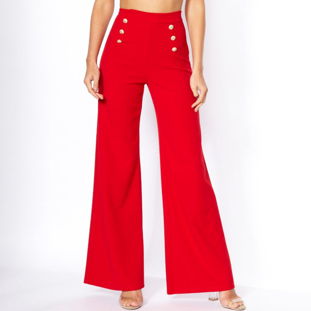 Courtney Button Flare Trouser