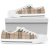 Women's Low Top Canvas Shoes Inspired by Burberry