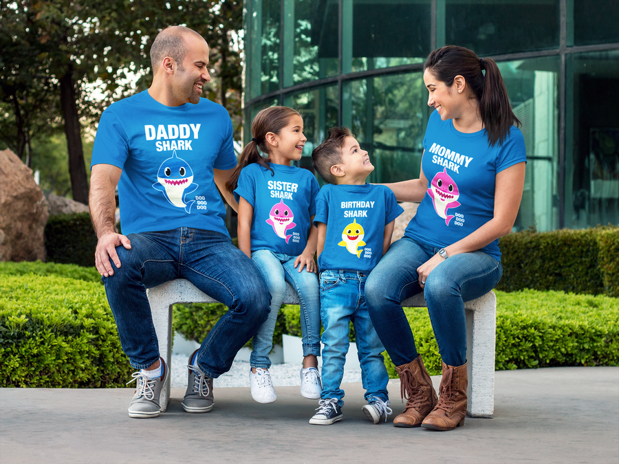 Shark Family Vacation and Custom Birthday Shirts