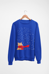 Tabby Snow Cat Ugly Christmas Sweatshirt