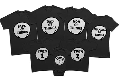 Personalized Thing Family Shirts, Matching Family Shirts. Thing 1, Thing 2, Thing Mom, Thing Dad, Halloween Disney Vacation Shirts