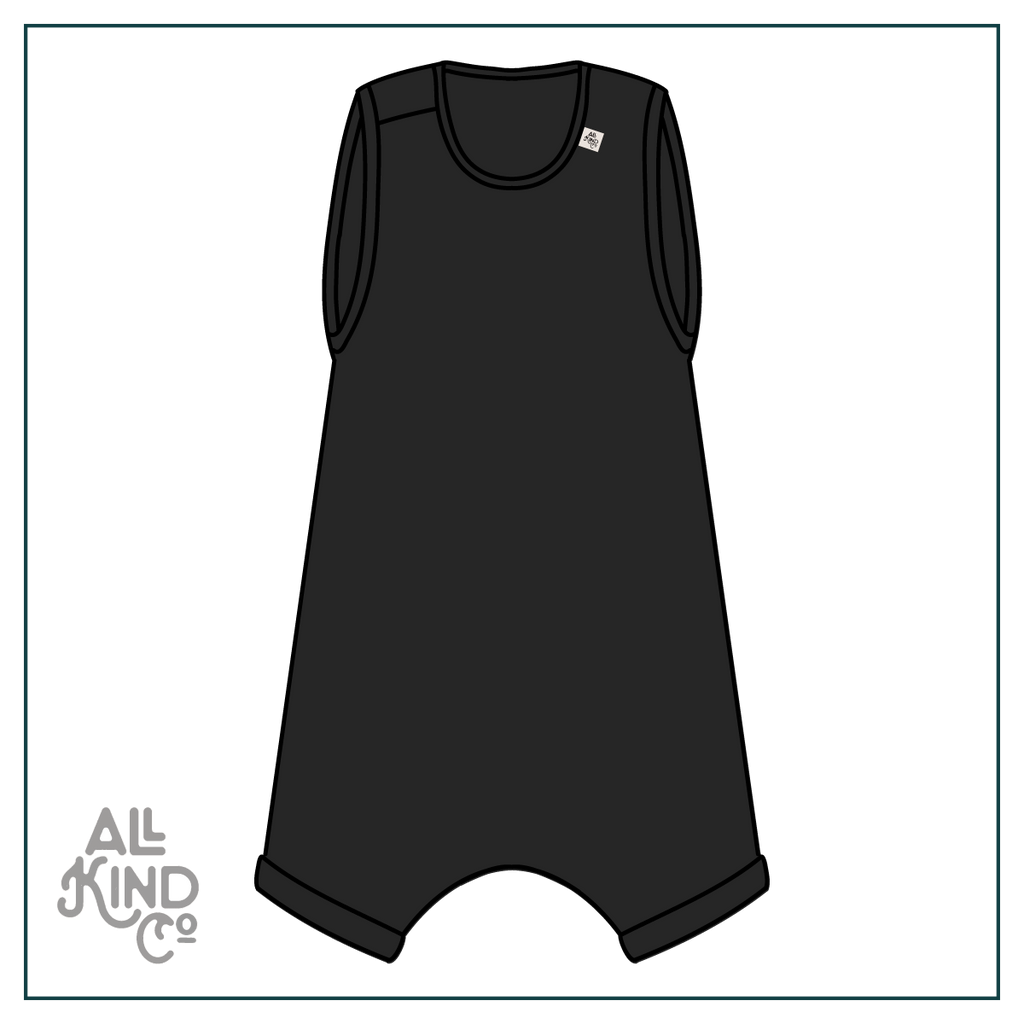 Black; Summer Romper