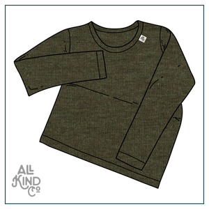 Khaki; Long Sleeve Tee