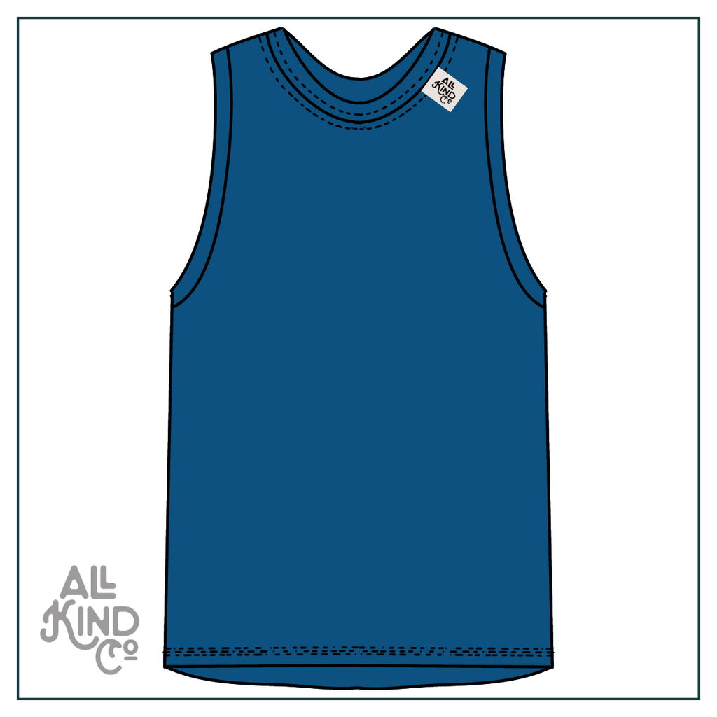 Lagoon; Drop Sleeve Vest
