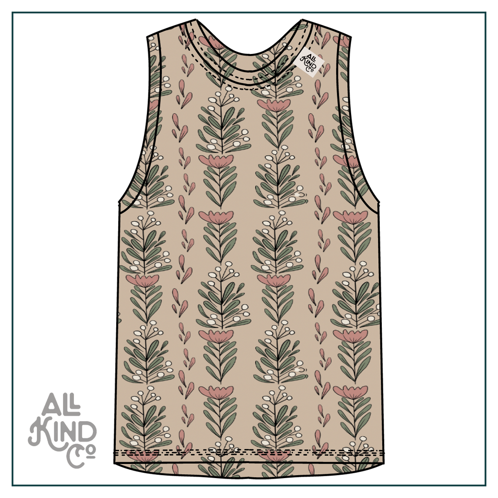 Summer Blooms; Drop Sleeve Vest