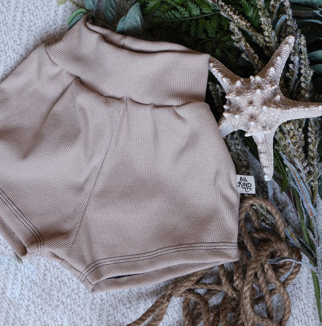 Almond Ribbed; Shorts