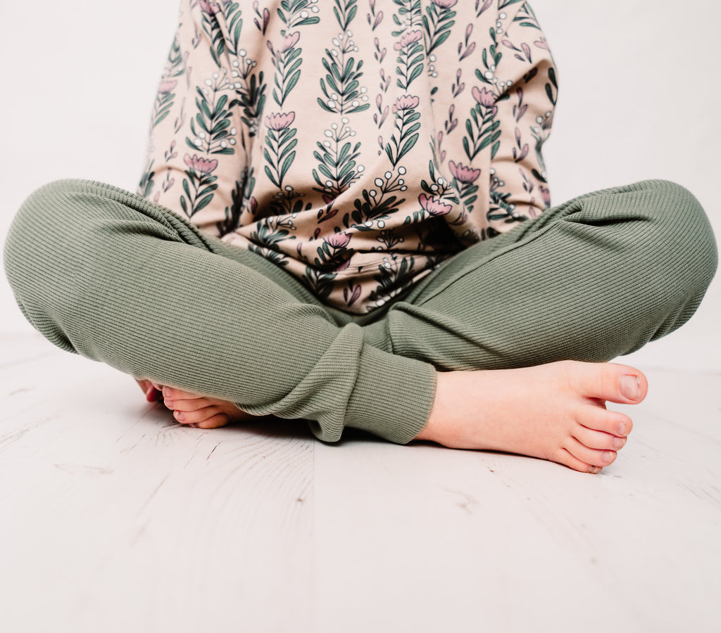 Sage Ribbed;  Skinnies