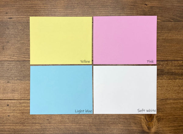 Envelope color options.