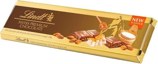 Chocolate Lindt Gold Milk Nougat Almond 300G
