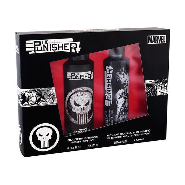 Colonia Original: COLONIA PUNISHER 200 ML BODY SPRAY + 200 ML GEL DUCHA