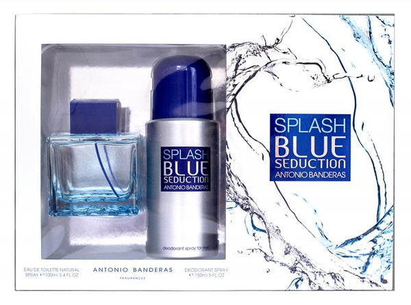 Seduction Splash In Blue Antonio Banderas EDT 100 ML 2 Pzs Hombre