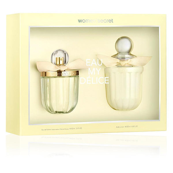Perfume Original: PERFUME EAU MY DELICE BY WOMAN SECRET ESTUCHE 100ML EDT + 200ML BL MUJER
