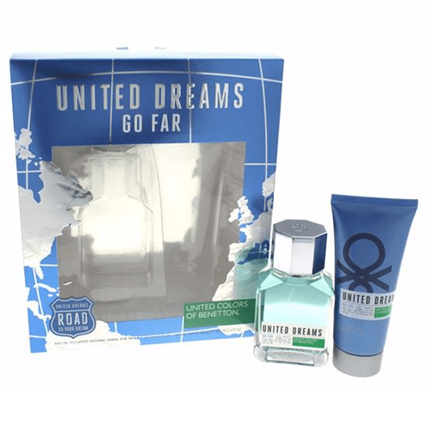 PERFUME GO FAR BY BENETTON EDT 100ML + AFTER SHAVE 100ML ESTUCHE HOMBRE