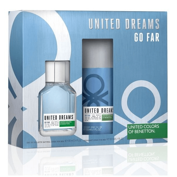 PERFUME GO FAR BY BENETTON EDT 100ML + DESORANTE 150ML ESTUCHE HOMBRE