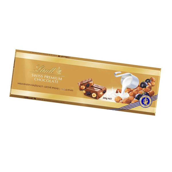 Chocolate Lindt Gold Milk Raisin Hazelnut 300G - Lodoro Perfumes y Lentes