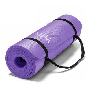 "Yoga Exercise Mat - 72"" x 24"" x 1/2"" - Purple"
