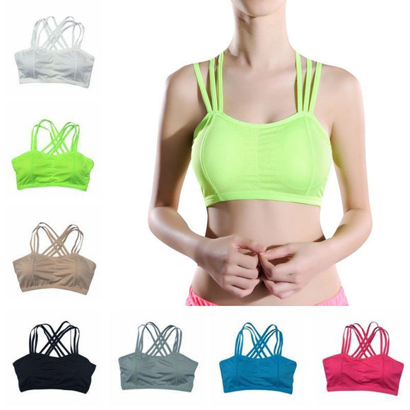 Women Cross Strap Backless Dry Quick Sports Bras