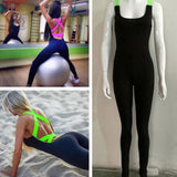 Women's Fitness Wear Stretch Jumpsuit