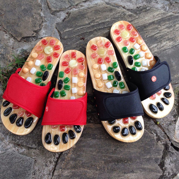 Natural Acupuncture Cobblestone Massage Slippers
